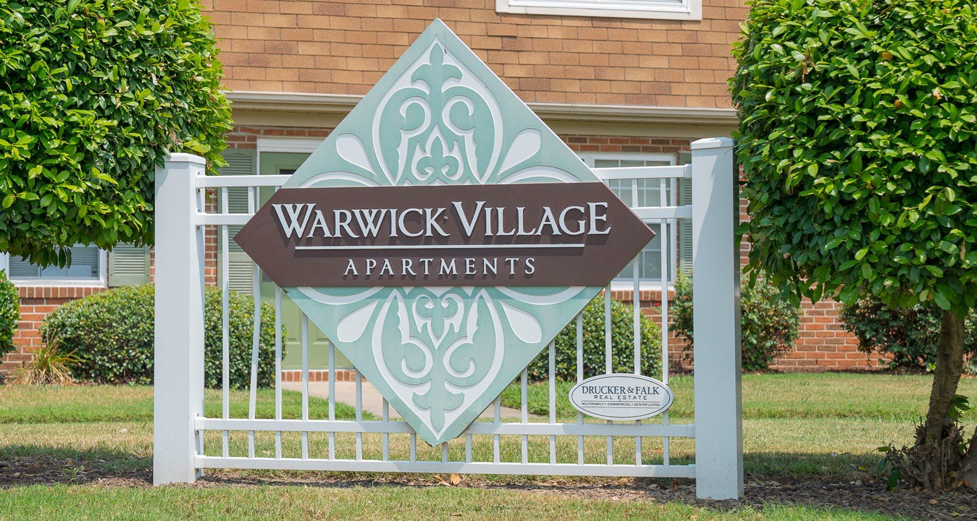 Sign at Warwick Village Apartments