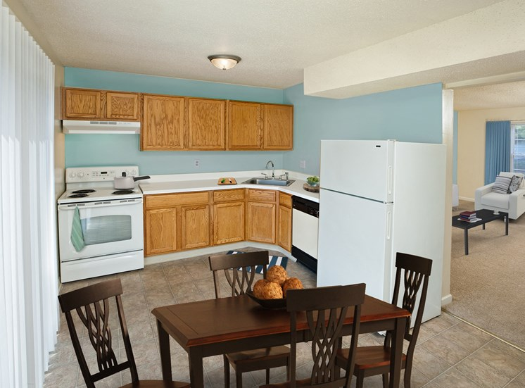 Kitchen at Woodbriar Apartments