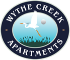 Logo with bird for Wythe Creek apartments