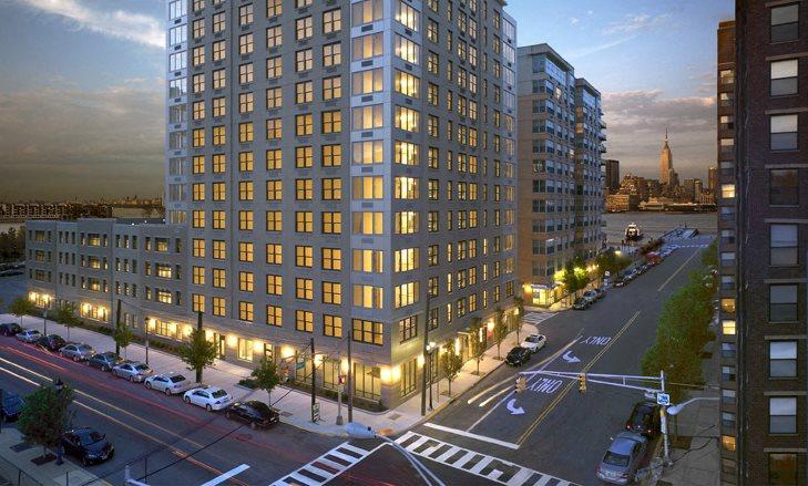 Berkshire Hoboken Apartments exterior, Hoboken NJ