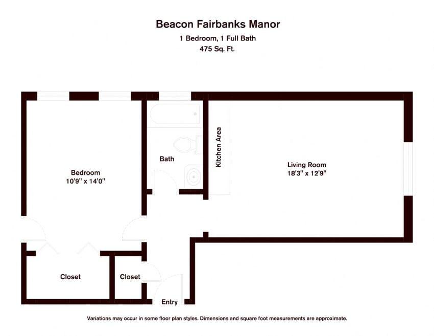 Beacon Fairbanks Manor Apartments in Brookline MA - BF1A