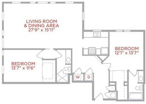Corner Two Bedroom Gramercy