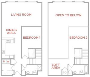 Two Bedroom Townhouse Shillito Lofts