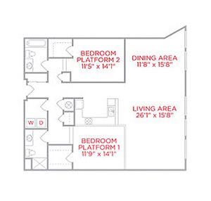 Two Bedroom I Shillito Lofts