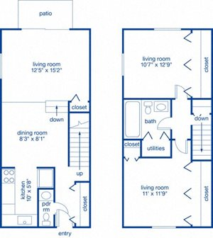 Two Bedroom Townhome I