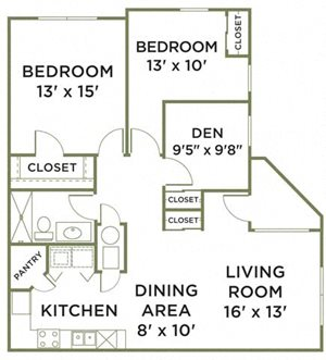 Two Bedroom With Den Phase II