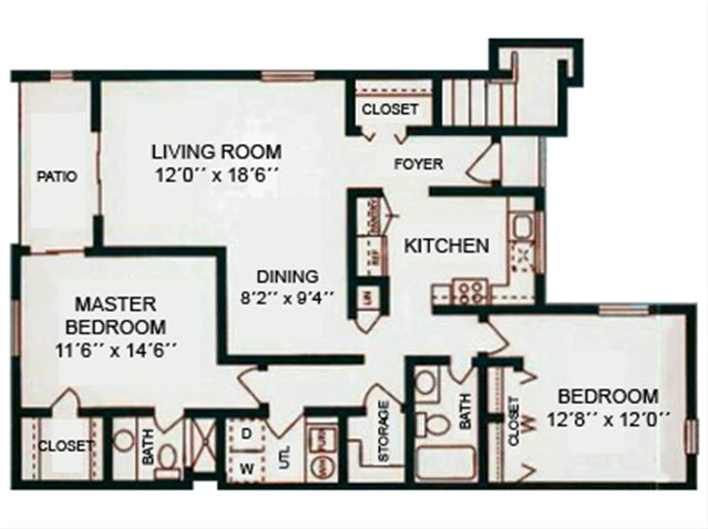 2Bed2Bath - 1167 Sqft Floor Plan 3