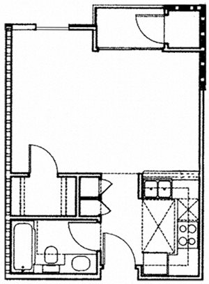 SINGLE 1BA - FLOOR PLAN B - 10930 ASHTON