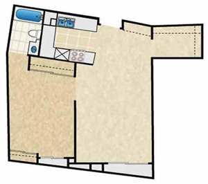 SINGLE 1BA - FLOOR PLAN A - 10969 ROCHESTER