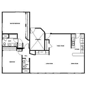 2 Bed 2 Bath - 1380 Sqft