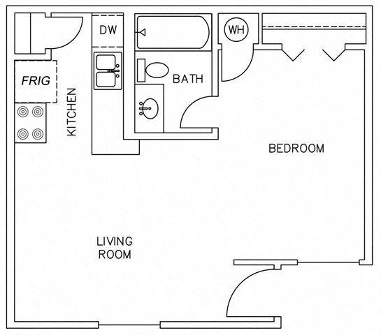 0 Bedroom 1 Bathroom