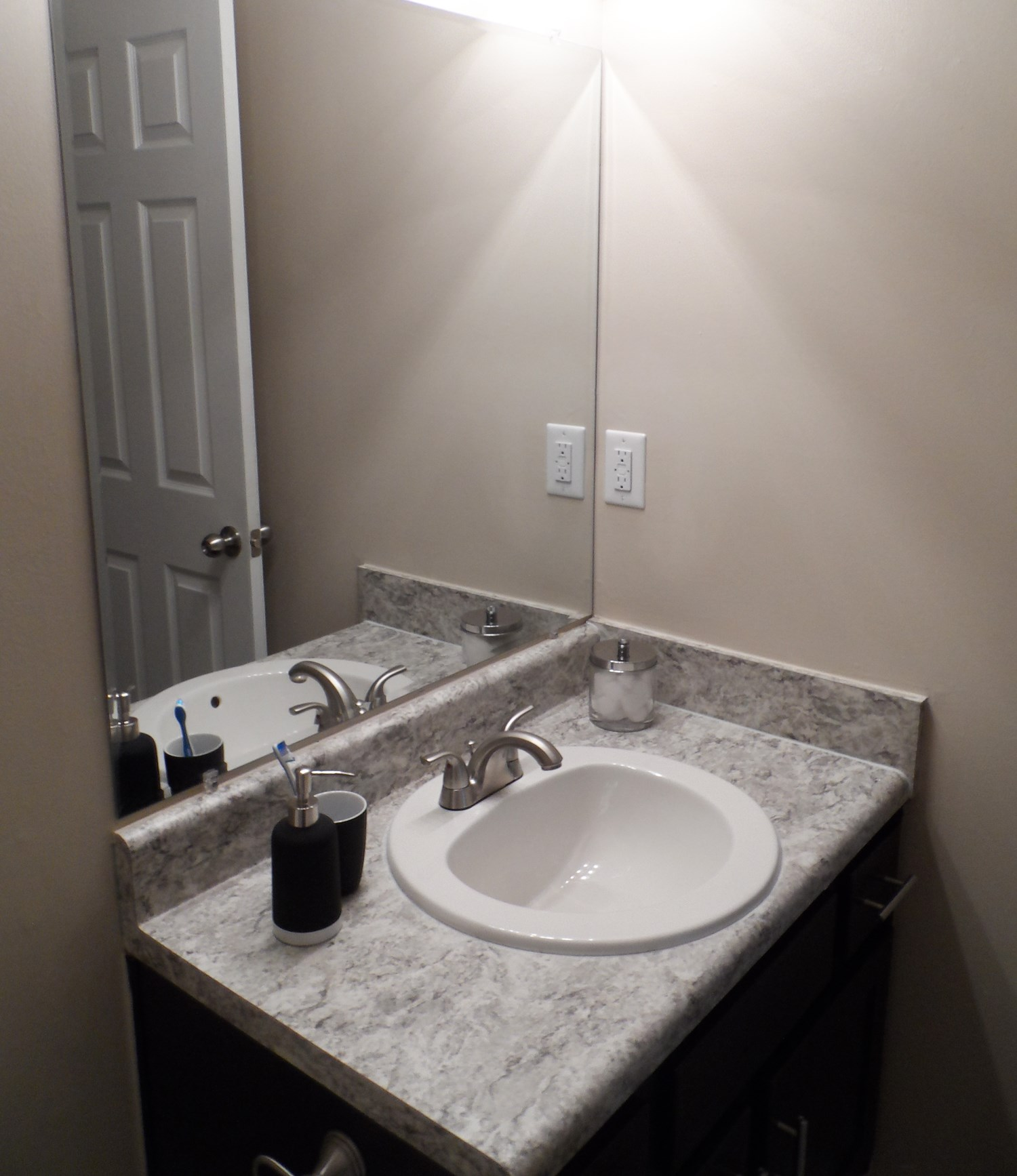 Bathroom at Amberwood at Lochmere Apartments in Cary, NC