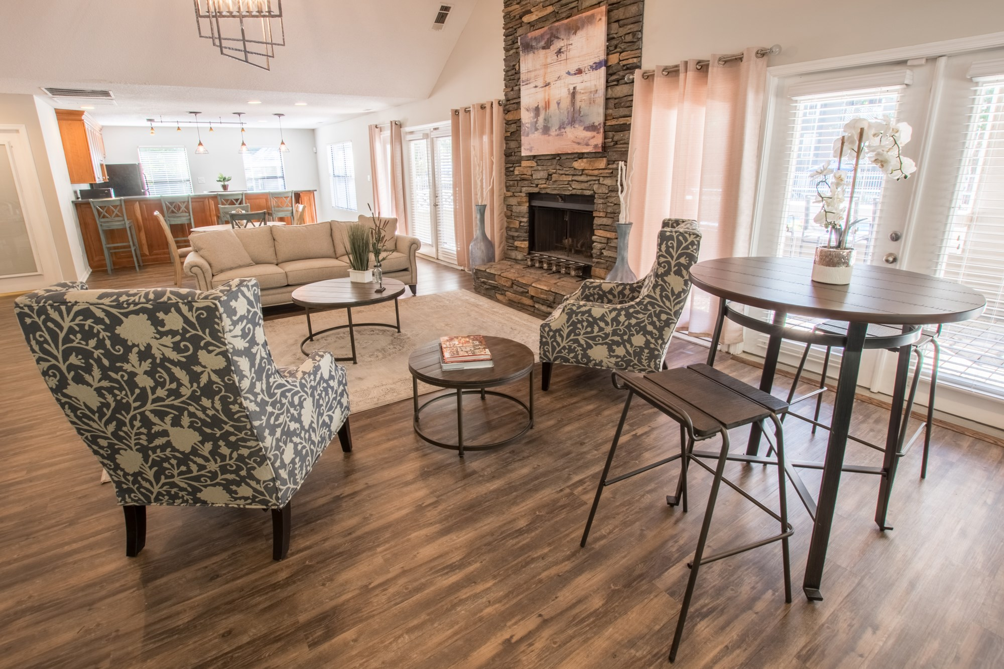 Clubhouse at Amberwood at Lochmere Apartments in Cary, NC