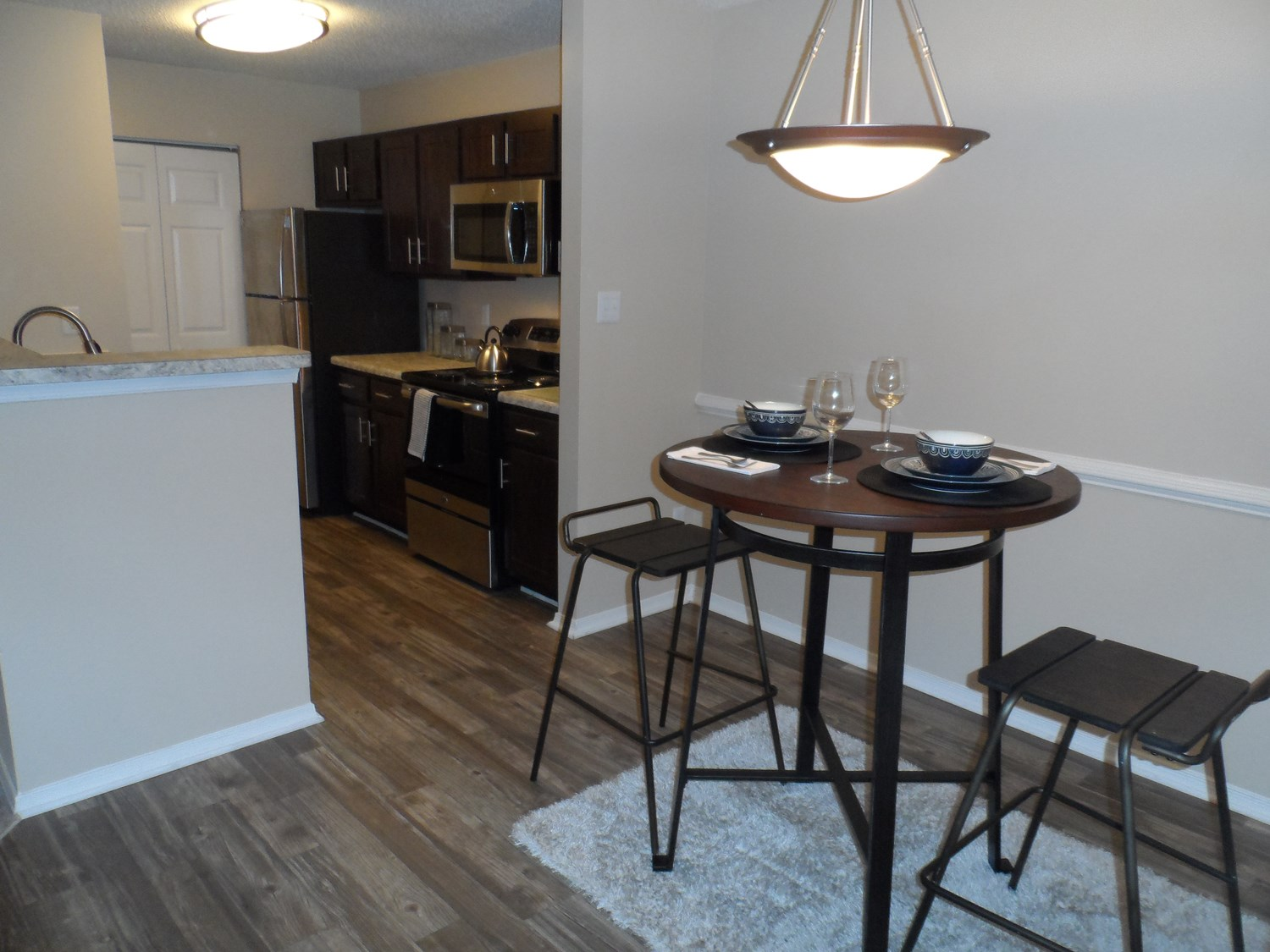 Dining Area at Amberwood at Lochmere Apartments in Cary, NC