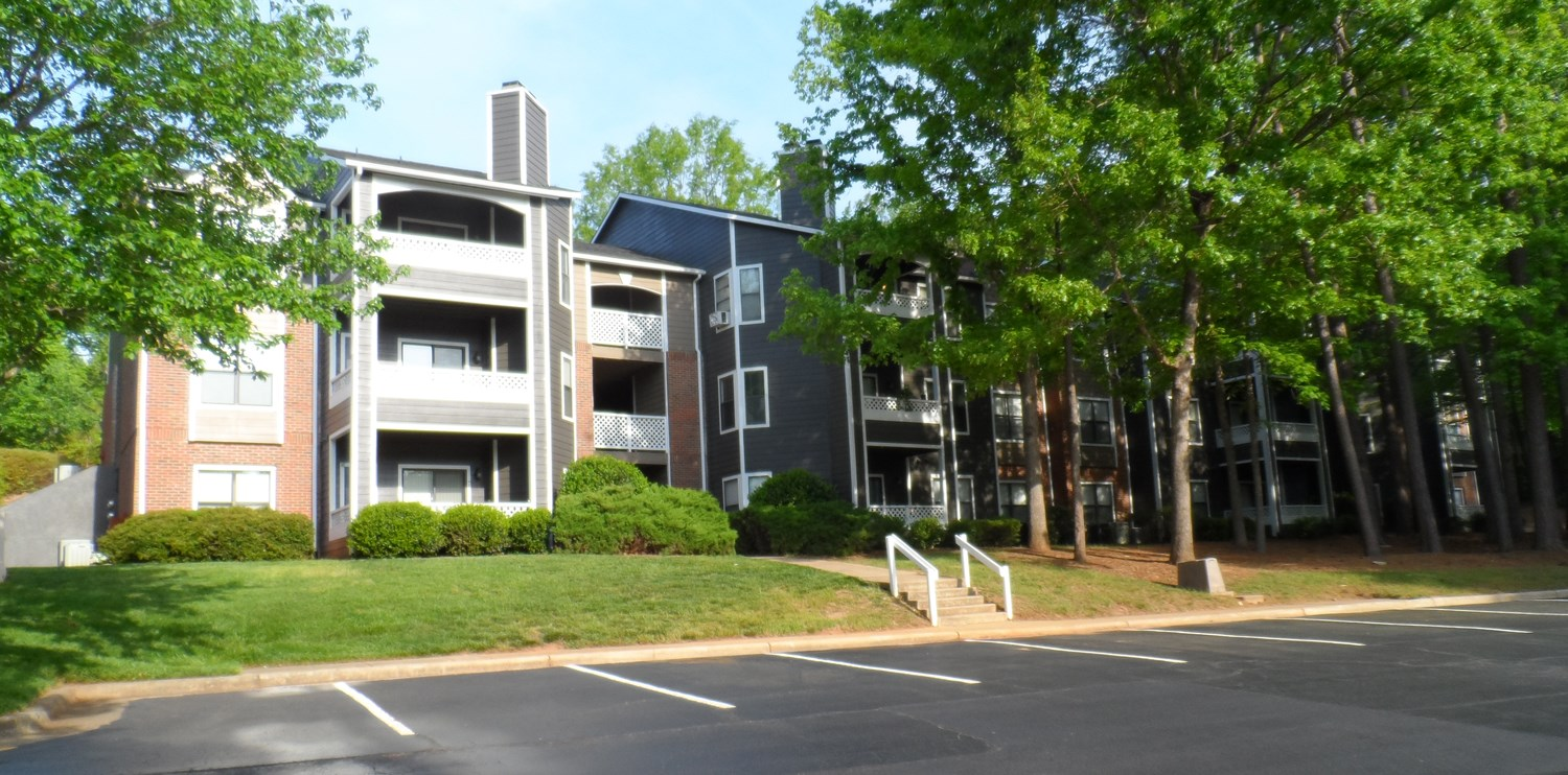 Exterior at Amberwood at Lochmere Apartments in Cary, NC
