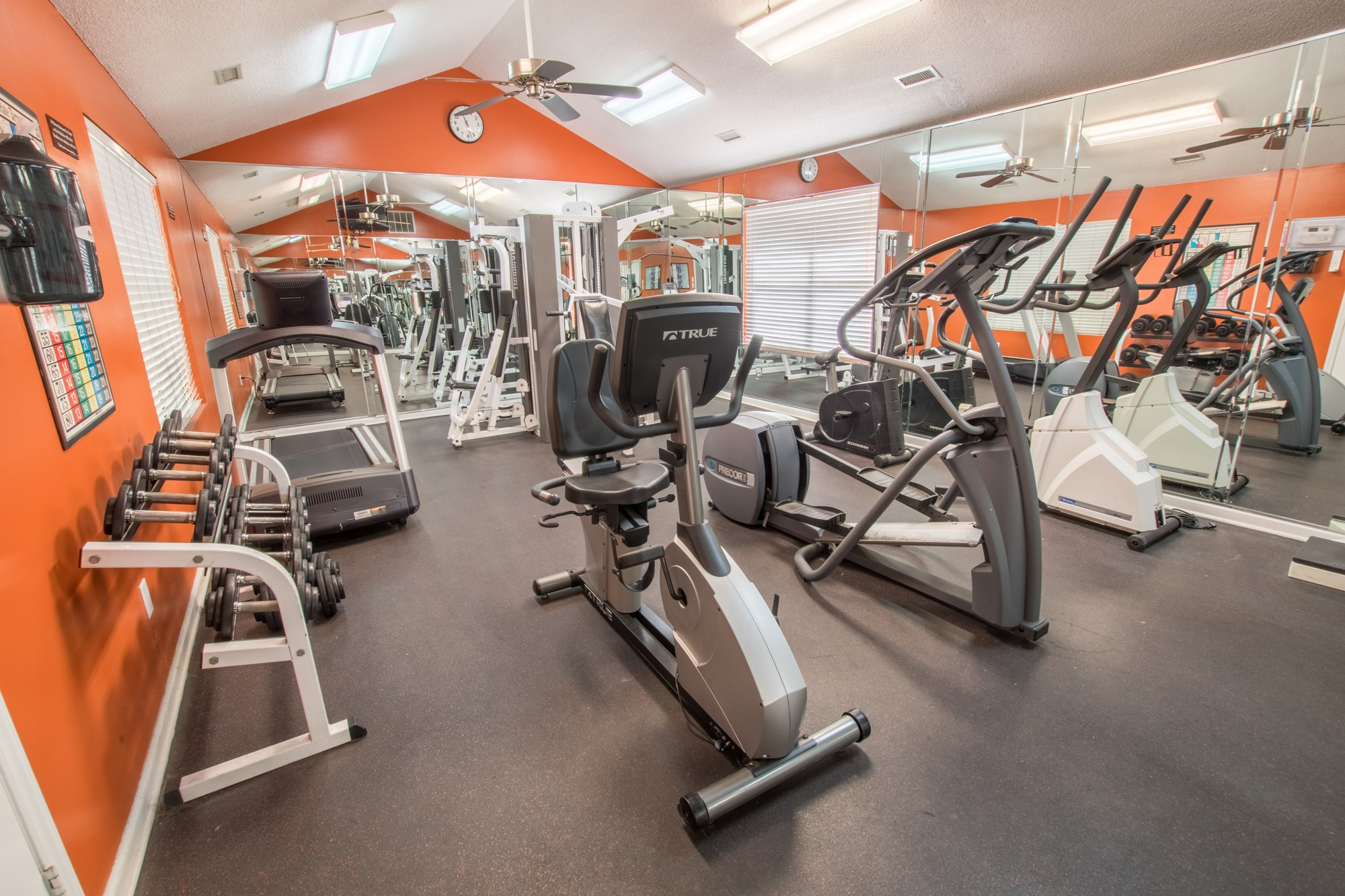 Fitness Center at Amberwood at Lochmere Apartments in Cary, NC