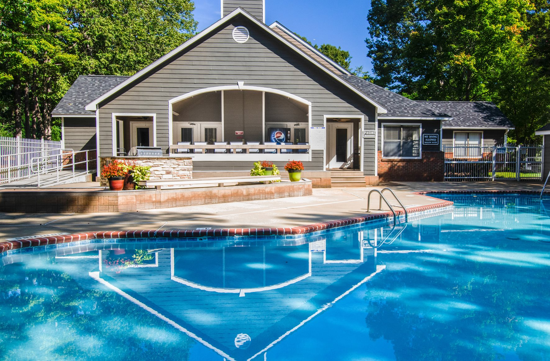 Swimming Pool at Amberwood at Lochmere Apartments in Cary, NC