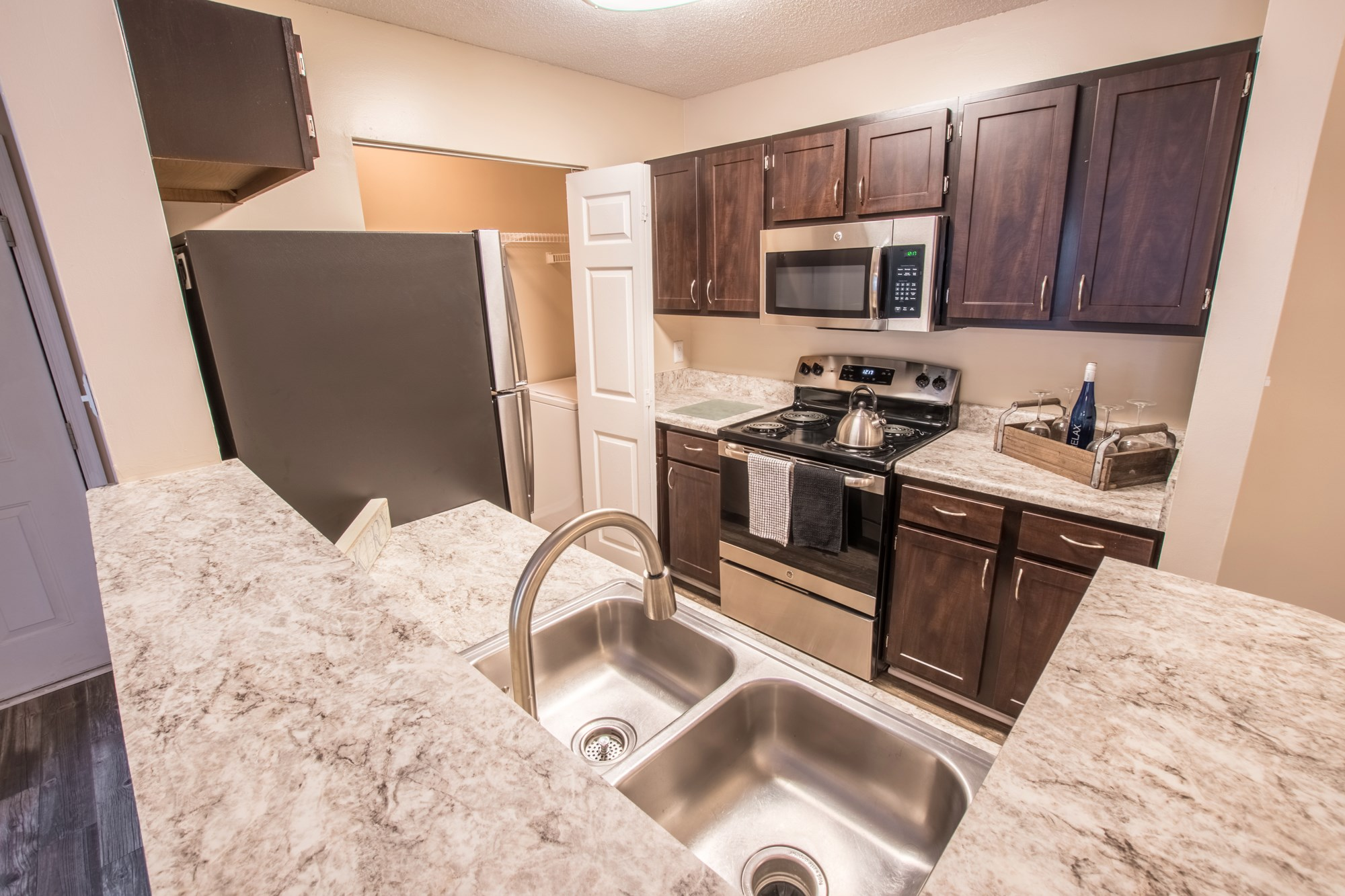 Upgraded Kitchen at Amberwood at Lochmere Apartments in Cary, NC