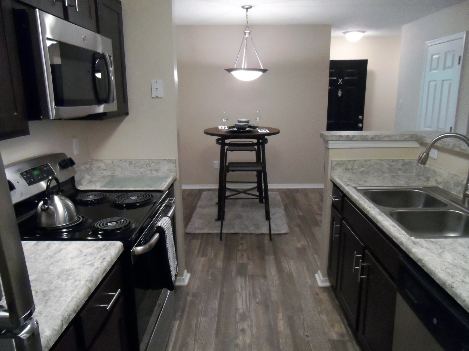 Kitchen at Amberwood at Lochmere Apartments in Cary, NC