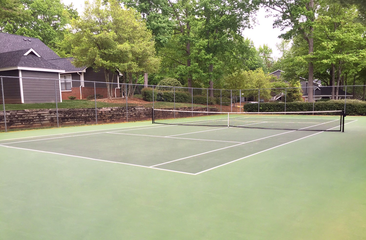 Tennis Court at Amberwood at Lochmere Apartments in Cary, NC