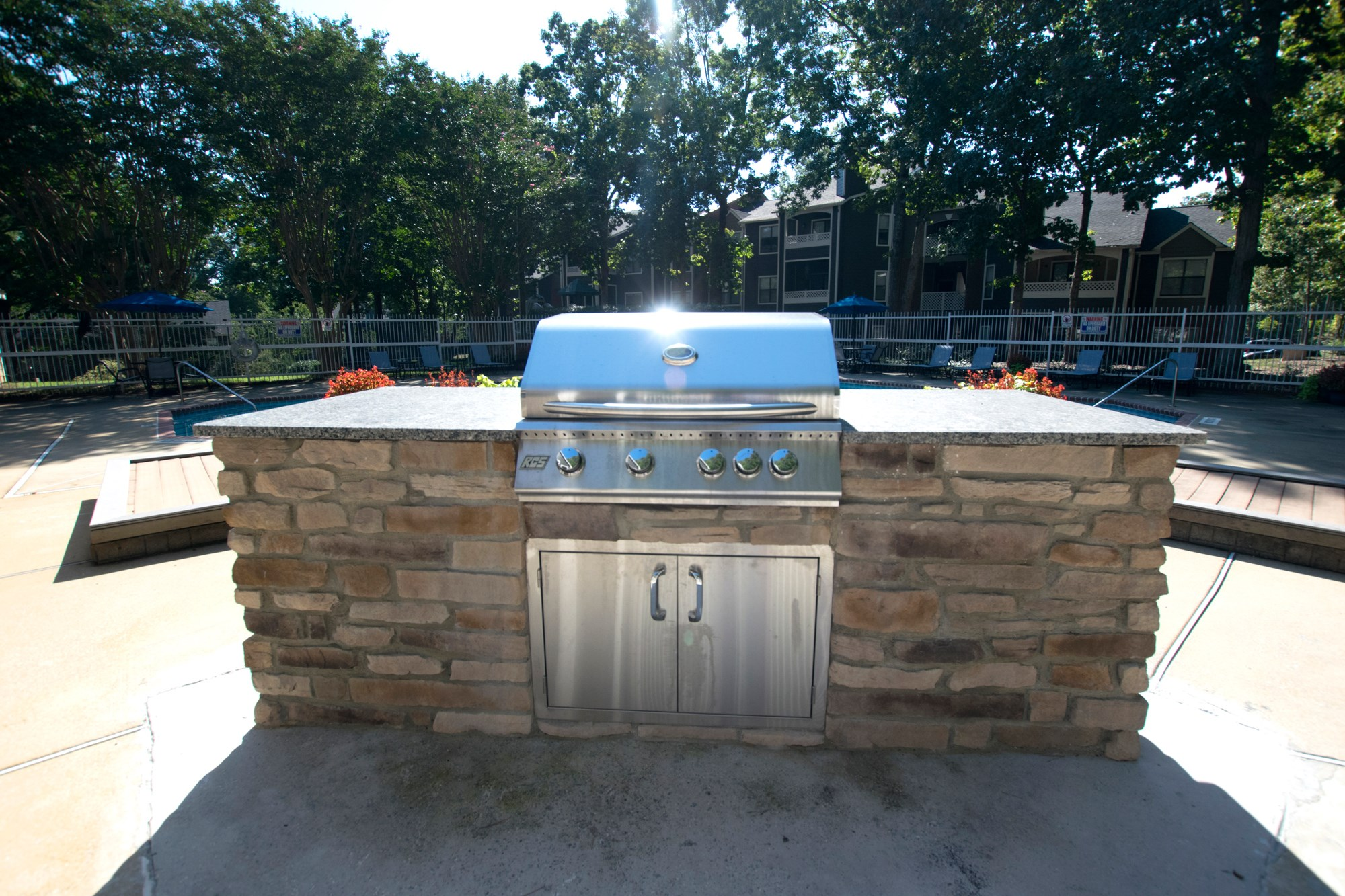 Poolside Grill at Amberwood at Lochmere Apartments in Cary, NC