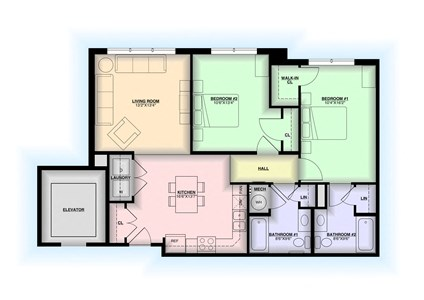 Floor Plan in State College, Pa | Atherton Place | Property Management, Inc.