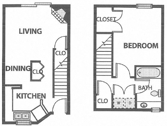 One Bed Loft at 740 Sq Ft.