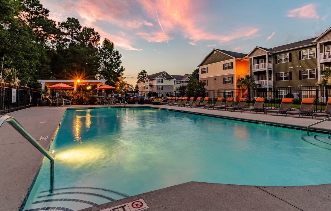 Sunset Views Poolside at Hawthorne at Murrayville in Wilmington, NC