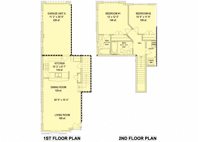 RiverWatch Apartments Potomac 2 Bedroom Floor Plan