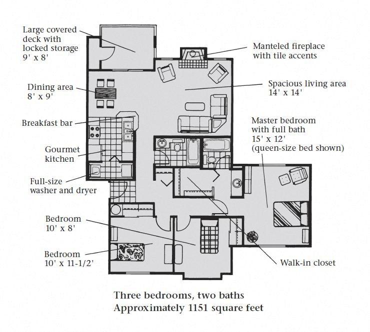 3B 2B Floor Plan 5