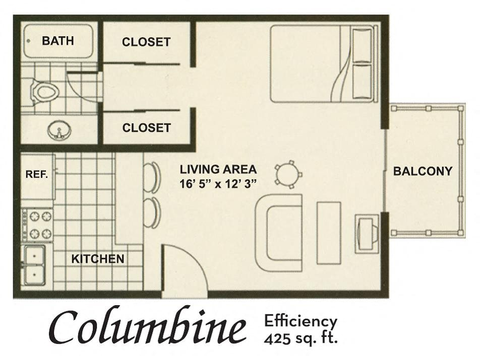 Efficiency Floor Plan 1