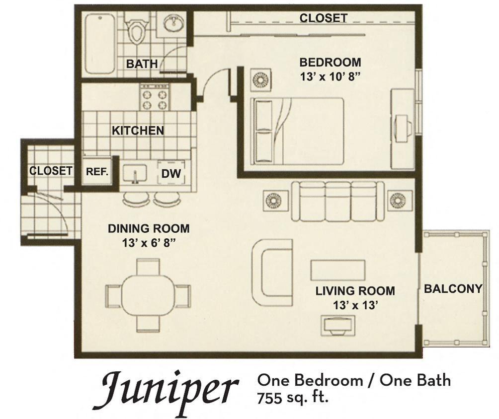 lg 1x1 Floor Plan 4