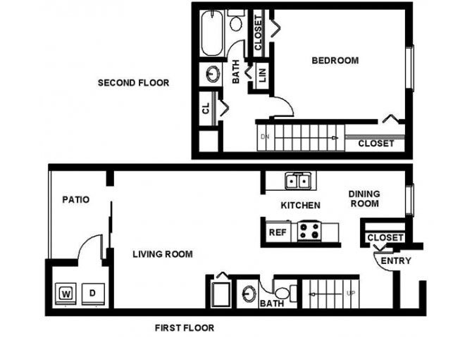 1 Bedroom Town Floor Plan 2