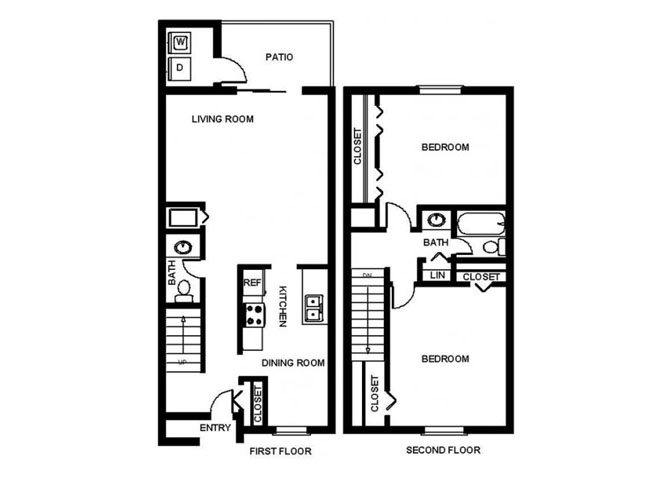 2 Bedroom Town Floor Plan 4