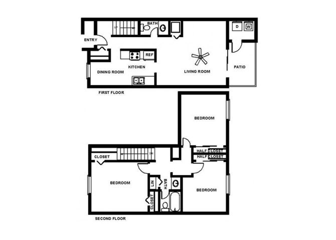 3 Bedroom Town Floor Plan 6