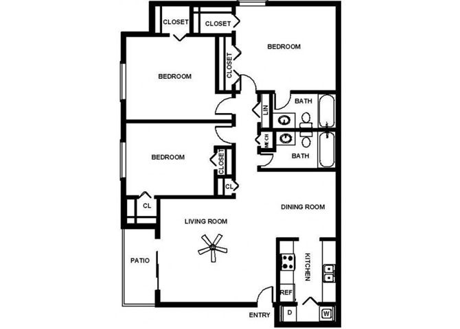 3 Bedroom Garden Floor Plan 5