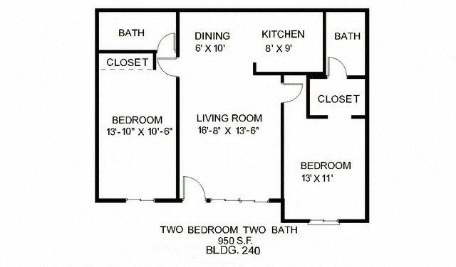 2B 2B Floor Plan 3