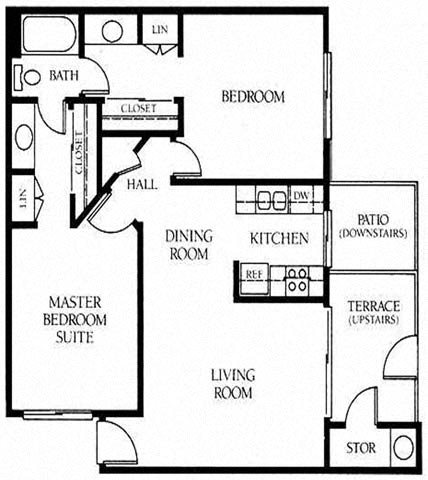 2B 1.5B Floor Plan 2