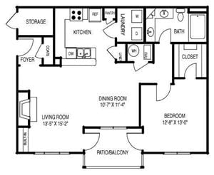 Renovated Floor Plan B (A2R)