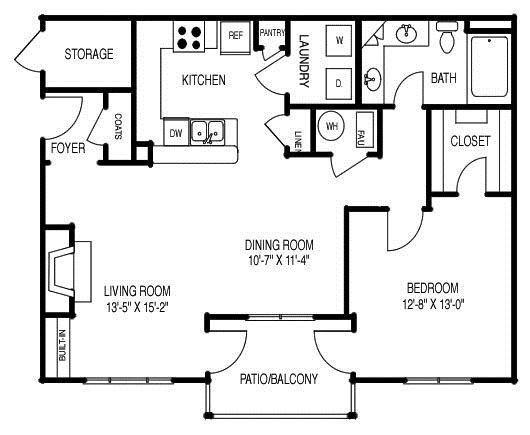 Renovated Floor Plan B (A2R) Floor Plan 2