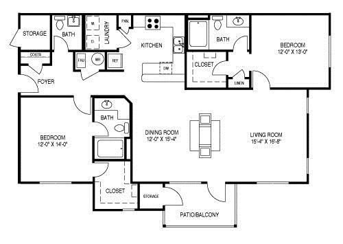 Renovated Floor Plan D (B2R) Floor Plan 5
