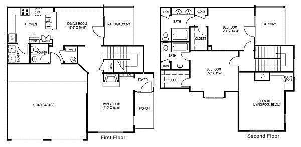 Renovated Floor Plan F (B3R) Floor Plan 6