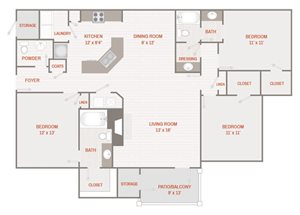 Renovated Floor Plan E (C1R)