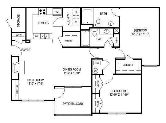 Floor Plan C (B1) Floor Plan 3