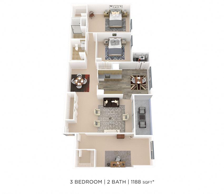 Three Bedroom 2 Bath