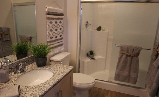 Mountain Trail Apartments Bathroom