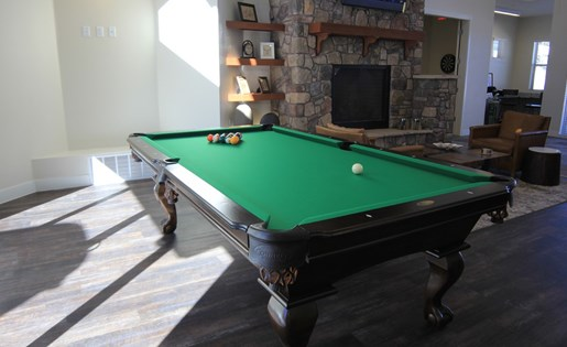 Mountain Trail Apartments Pool Table in Clubhouse