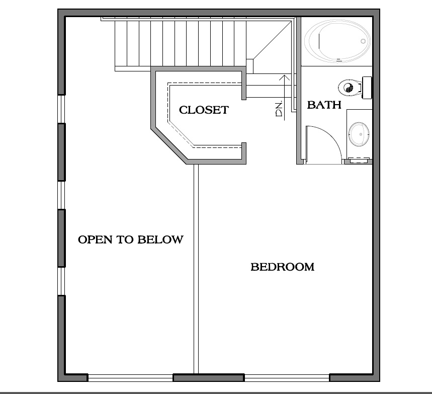 Loft Level Floor Plan