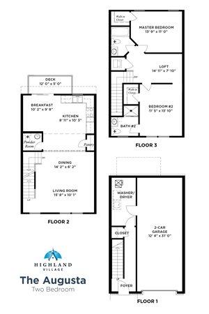 The Augusta 2 Bedroom w/ Loft