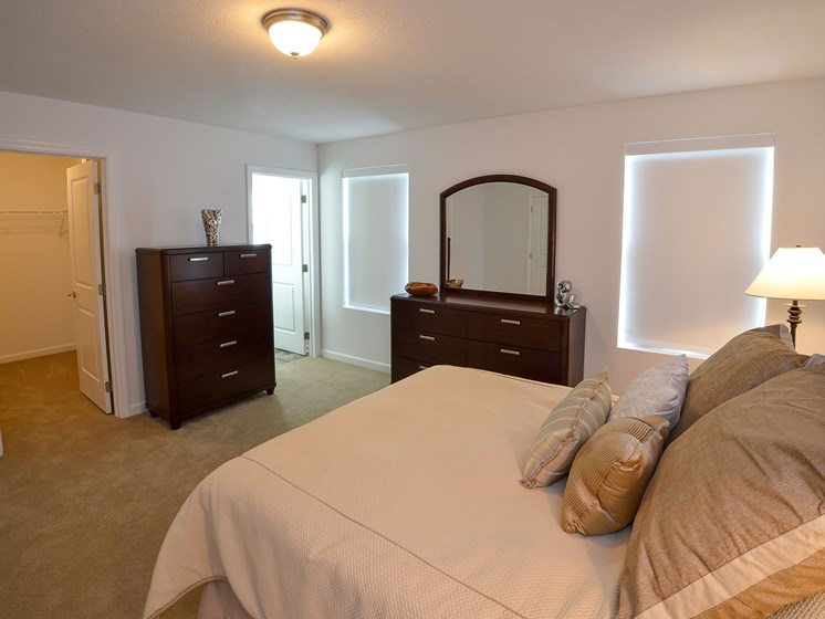 Bedroom, Highland Village newly constructed Townhomes in Ross Township, Pittsburgh, PA